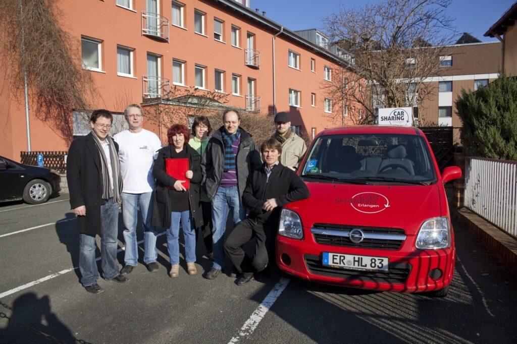 Carsharing Erlangen Station beim Creativhotel Luise